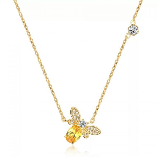 Beesweet Primavera Verão Queen Bee Necklace